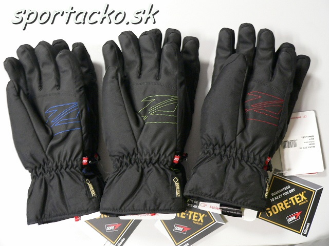 Pánske lyžiarske rukavice ZANIER Rauris GORE-TEX® black/green