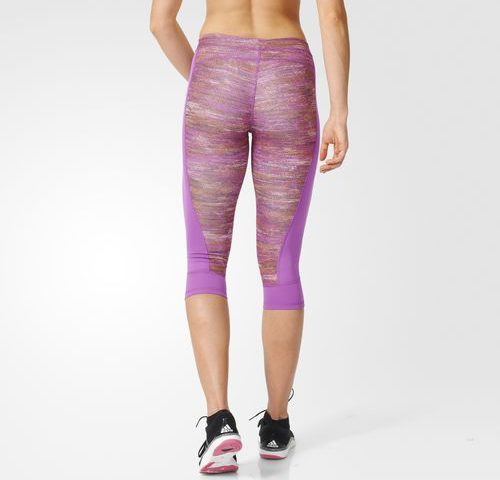Kompresné elasťáky Adidas Capri Printed Heather
