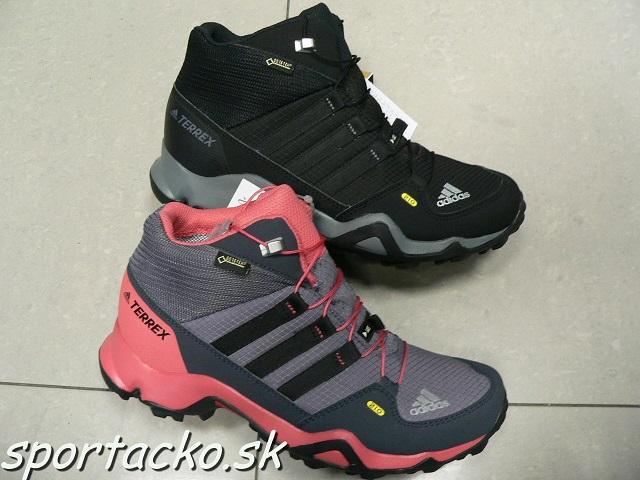 Turistická gore-texová dámska/juniorská obuv Adidas Terrex Mid GTX
