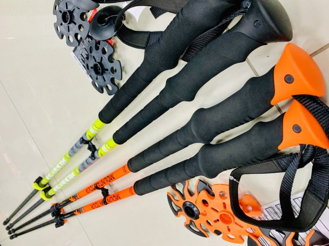Skialpinistické trekingové dvojdielne palice Teleskopstock Mountain Tour 145cm Zima 2020/21