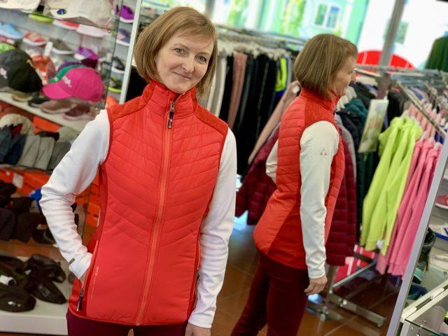 AKCIA nová kolekcia: Dámska športová vesta GTS Lady Vest Padded Knit Mix ZIMA 2020/21
