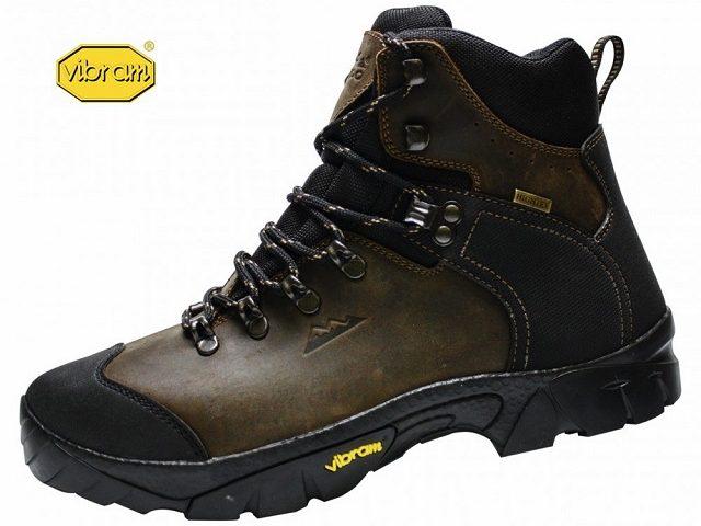 AKCIA: Celokožená turistická obuv Eiger Trek Vibram brown/black model 2021
