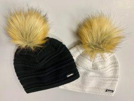 Dámska pletená zimná čiapka s kožušinkovým brmbolcom Eisbär Conny Lux Merino Zima 2019/20