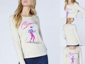 AKCIA: Almgwand Chiemsee dámske lyžiarske tričko Classic White Snow