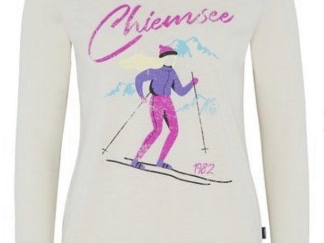 Almgwand Chiemsee dámske lyžiarske tričko Classic White Snow ZIMA 2020/21