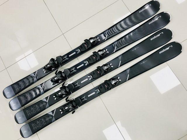 Dámske zjazdové lyže s viazaním ELAN Black Magic Perla Waveflex