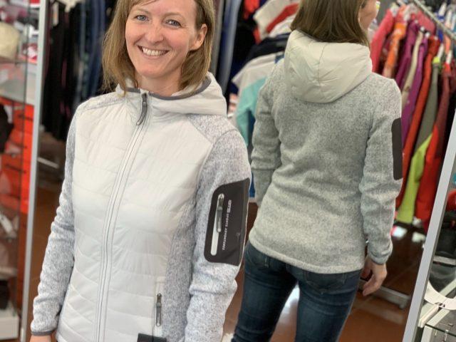 2021/22 AKCIA nová kolekcia: Dámska fleeceová bunda GTS Knitmix Hybrid Padded Jacket