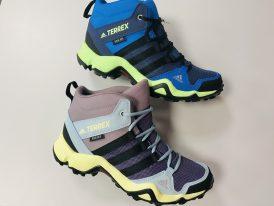 Dámska alebo juniorská turistická obuv Adidas TERREX AX2R Mid RAIN.RDY new colors 2020