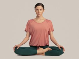 Dámske športové tričko 4F Oversize Yoga Dry and Cool