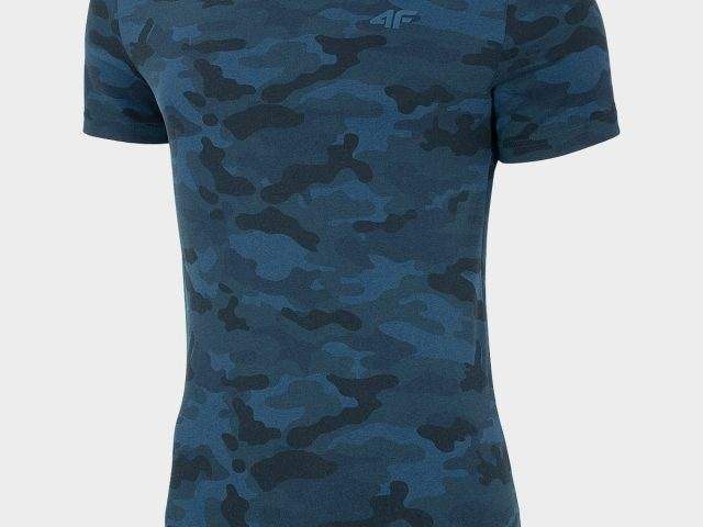 Maskáčové pánske tričko s krátkym rukávom 4F Camouflage