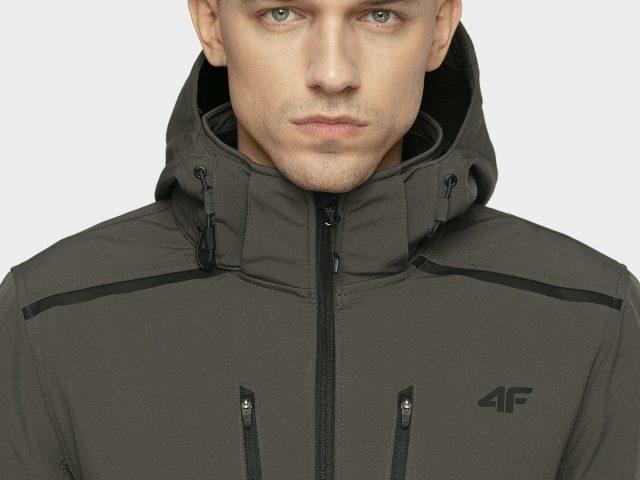 Pánska softshellová trekingová bunda 4F NeoDry Membrane 8.000 grey/black