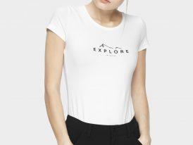 Dámske bavlnené tričko 4F Sportstyle Slim Explore