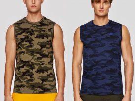 Maskáčové pánske tričko bez rukávov 4F Camouflage Tee