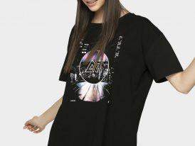 AKCIA Výpredaj: dámske bavlnené tričko 4F Oversize Lady