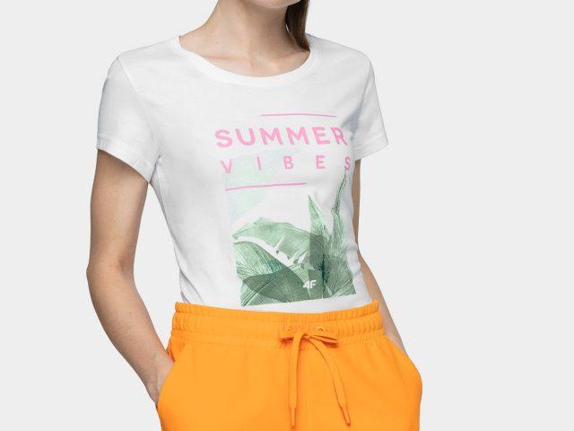 Dámske letné tričká 4F Tropical Summer Vibes