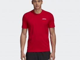 Bavlnené pánske tričko ADIDAS Essentials Plain Tee Scarlet Red Summer 2020