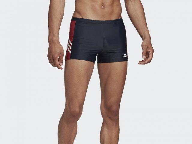 Pánske plavecké plavky / boxerky ADIDAS FITNESS THREE-SECOND Boxer