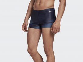 Pánske plavecké plavky / boxerky ADIDAS 3-STRIPES GRAPHIC Boxer