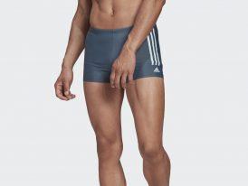 Pánske plavecké plavky / boxerky ADIDAS SEMI 3-STRIPES Boxer