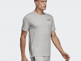 Bavlnené športové pánske tričko Adidas Essentials Plain Tee Grey Heather Jeseň/Zima 2020/21