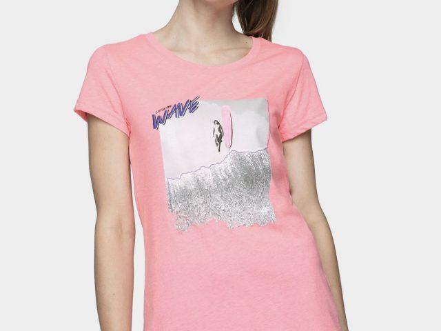 Dámske bavlnené tričká 4F Surf Time