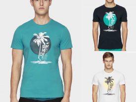AKCIA Výpredaj: Pánske bavlnené tričká 4F Summer Chill Out
