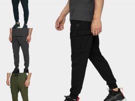 AKCIA nová kolekcia: Kapsáčové teplákové nohavice 4F Stretch Leisure Pant Men