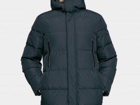 Pánsky páperový zimný kabát 4F Natural Down Padding RDS ZIMA 2020/21 tmavomodrý