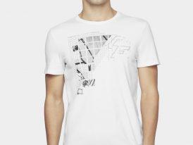 AKCIA nová kolekcia: Pánske bavlnené tričko 4F Next Level Tee biele