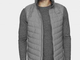 Pánska zateplená vesta 4F Ultra Light Vest ZIMA 2020/21