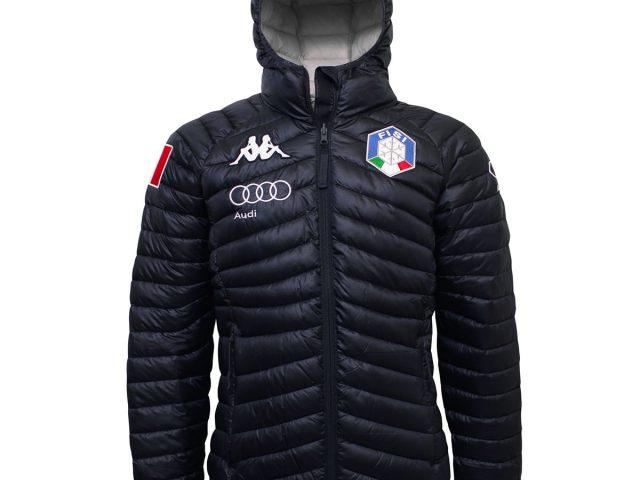 6CENTO FISI zimná prešívaná bunda Kappa 6CENTO 660X FISI tmavomodrá ZIMA 2020/21