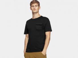Pánske bavlnené tričko s vreckom 4F TSM219