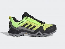 Pánska trekingová obuv ADIDAS Terrex AX3 GORE-TEX Continental® Hiking Hi-Res Yellow 2021