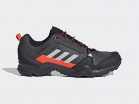 Pánska trekingová obuv ADIDAS Terrex AX3 Continental® Hiking Solar Red 2021