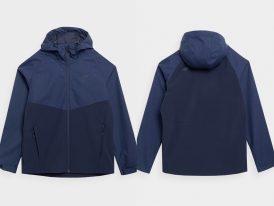 4F nová kolekcia 2021: Pánska softshellová membránová bunda 4F Mountain River DWR NeoDry