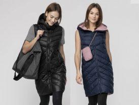 4F nová kolekcia 2021: Dámska dlhá prešívaná vesta 4F Urban Padded Vest