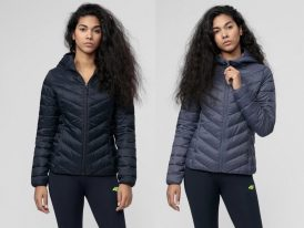 4F nová kolekcia 2021: Dámska prešívaná bunda 4F Pink Running Urban Padded Jacket