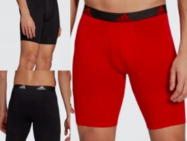 Adidas Essentials Logo Boxer funkčné pánske spodky (2 kusy) červené + čierne Summer 2021