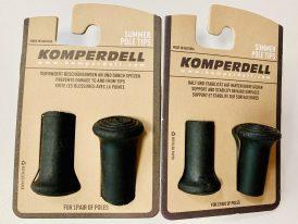 Gumené chrániče hrotov turistických palíc KOMPERDELL Spitzenschoner 8mm, 12mm