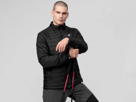 4F nová kolekcia 2021: Pánska prešívaná bunda 4F Outdoor Stone Primaloft Black Eco Padded Jacket
