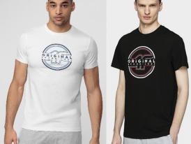 Pánske bavlnené tričko 4F Brand Code Original TSM019