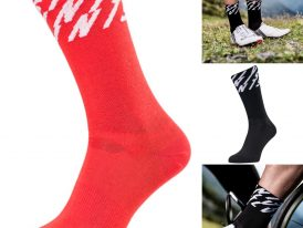Vysoké cyklistické ponožky z funkčného materiálu SILVINI Oglio COOLMAX