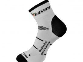 Športové cyklistické ponožky SILVINI Orato Microlon white, black
