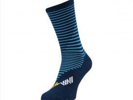 Vysoké cyklistické ponožky z funkčného materiálu SILVINI Ferugi COOLMAX navy-yellow
