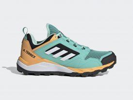 Adidas TERREX Agravic TR Traxion 2021 mint/orange dámska trailová bežecká obuv