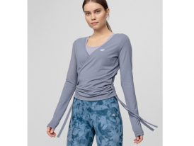Dámske tričko s dlhým rukávom 4F Yoga Slim TSDL011