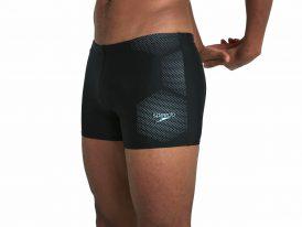Badehose Speedo Sports Tech Logo 27cm black/blue pánske športové plavky/boxerky