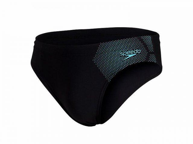 Badehose Speedo Sports Tech Logo 7cm brief black/blue pánske športové plavky