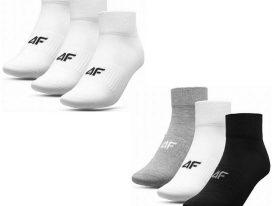 AKCIA: Pánske bavlnené ponožky 4F SOM007