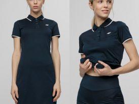 4F AKCIA Summer 2021: Dámske športové šaty + krátke šortky 4F Premium Club Polo Dress 2 in 1